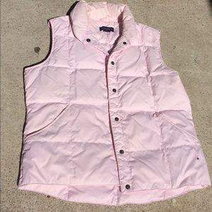 Lands'End Light Pink Puffer Vest GooseDown